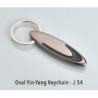 Oval yin-yang keychain