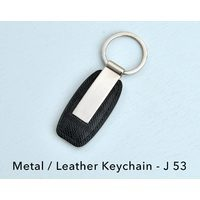 Metal/Leather keycha