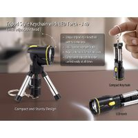 Tripod style keychain with LED torch