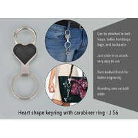 Heart Shape Keyring With Carabiner Ring