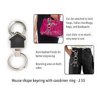 House Shape Keyring With Carabiner Ring