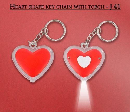 Heart Shape Key Chian With Torch