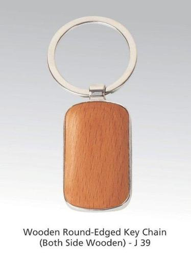 Wooden Round-Edge Key Chain (Both Side Wooden)