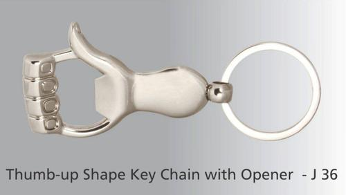 Thumb Up Key Ring With Opener