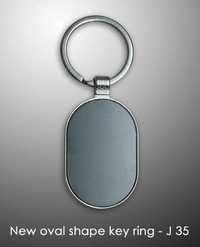 New Oval Shape Key Ring