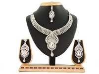 5101 Rodium White Necklace Set