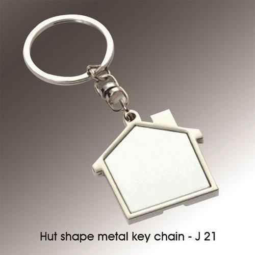 Hut Shape Metal Key Chain