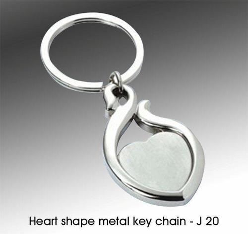 Heart shape metal key chain