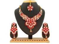 Designer Red Necklace