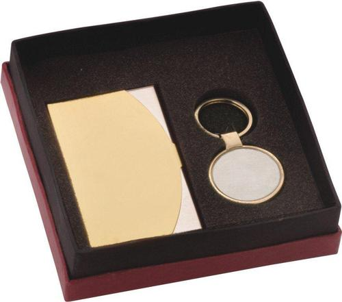 Visiting Card Holder and keyring Set