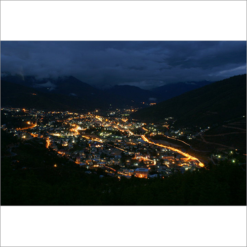 Night View of Thimphu