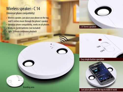 Wireless speaker (no connection required)