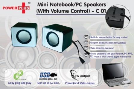 Power Plus mini Notebook / PC speakers