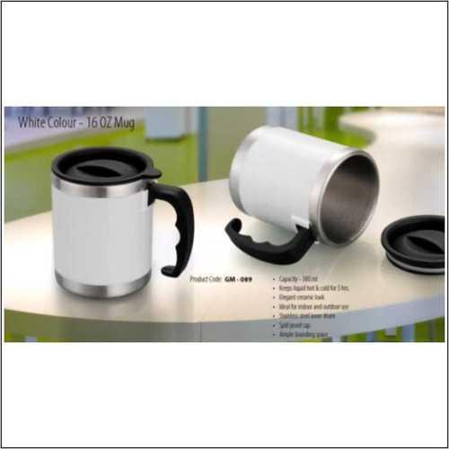 16 0z White Mug