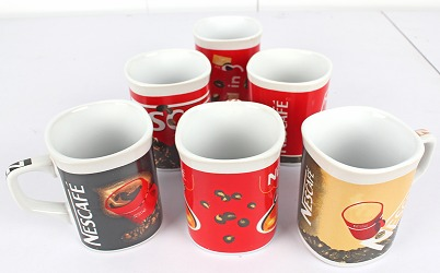 6 Pcs Ceramic Cup Set