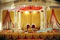 Indian Wedding Bollywood Crystal Mandap Set