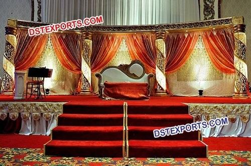 Muslim Nikah Gold Crystal Stage Set