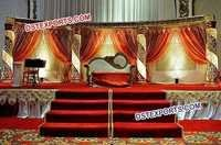 Muslim Nikah Gold Crystal Stage Set