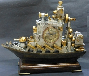 Resin Ship Clock