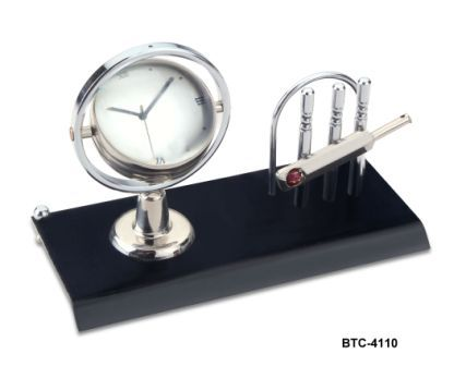 Desktop Article with Table Clock