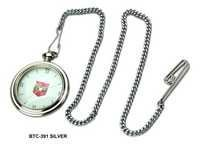 Silver Brass Pocket Watch Chain
