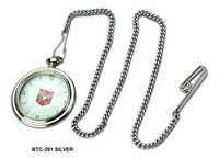 Silver Brass Pocket Watch Chain