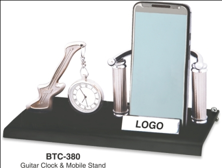 Guitar Clock & Mobile Stand