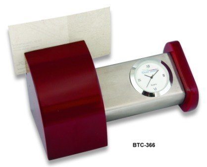 Table Clock with Visiting card holder