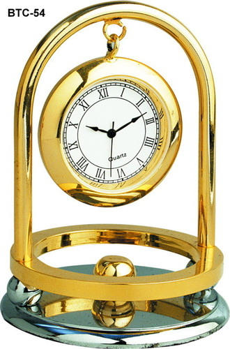 Table Clock (Golden)
