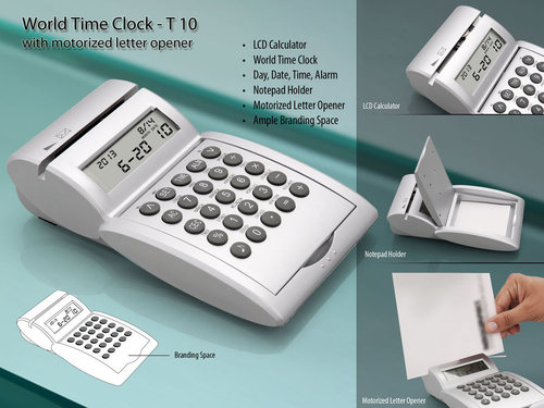 World Time Clock with Motorized Letter Opner