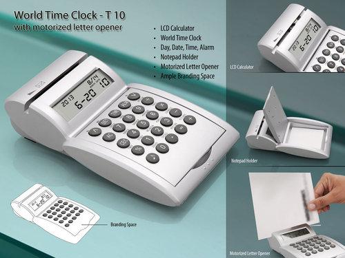 World Time Clock with Motorized Letter Opner