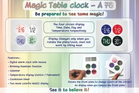 Magic Table clock
