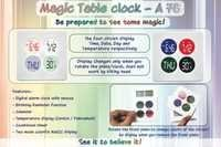 Magic Table clock