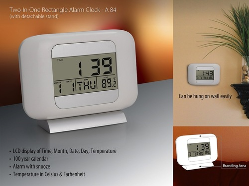 Tow - One Rectangle Clock With Detachable Stand