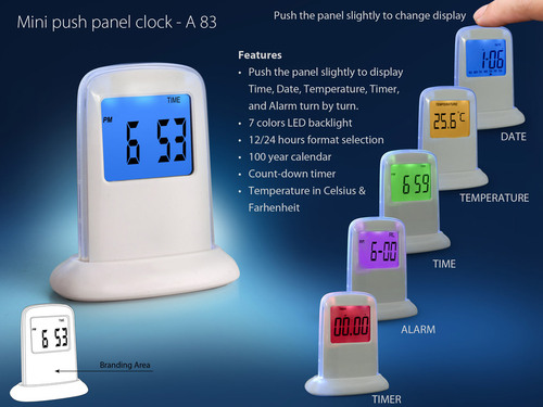Mini Push Panel Clock