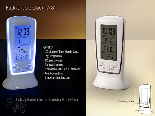 Backit Table Clock