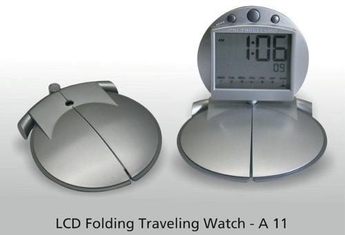 LCD Folding Traveling Watch