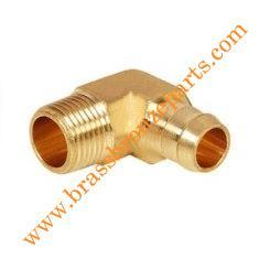 Brass Singe Burb Male ELbow