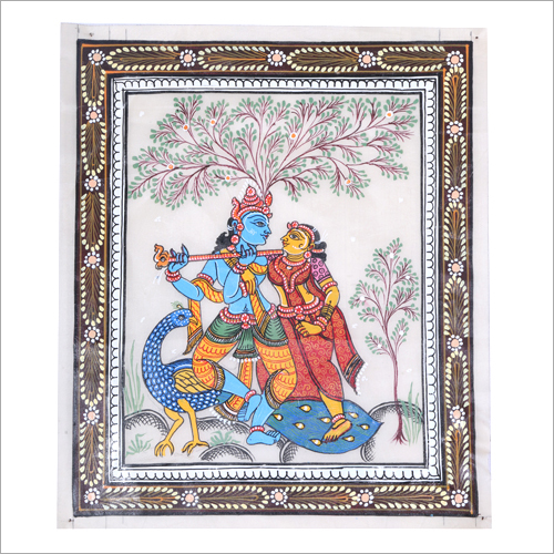 Radha Krishna Pattachitra Painting