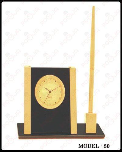 Pen Stand With Table Clock