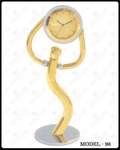 Man Held Table Clock