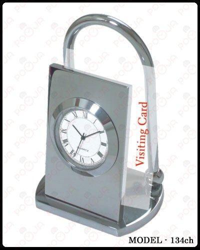 Visiting Card Holder Table Clock
