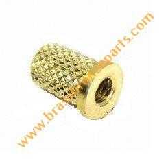 Brass Diamond Knurl Single Groove