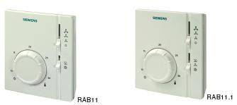 Siemens Analog Thermostat for FCU & Room