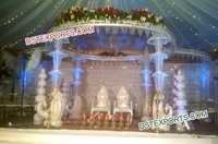 Wedding Peacock Crystal Umberala Mandap Set