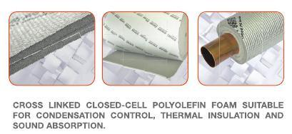 Closed Cell Polyolefin Aerofoam Rubber