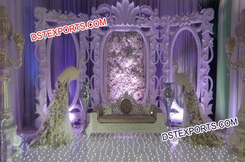 Wedding Stage With Designer Backdrop Frames