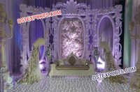 Wedding Stage With Designer Backdrop Frames