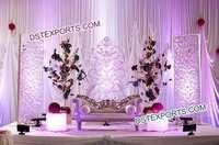 Indian Wedding Stage With Fiber Backdrop Frames