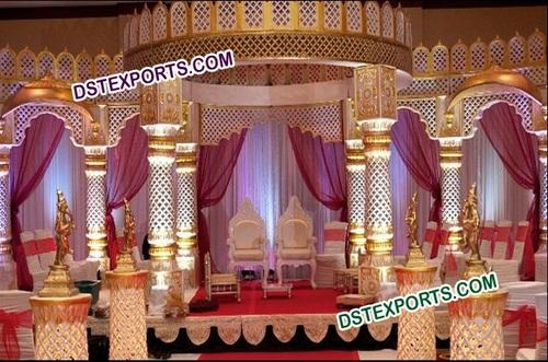 Indian Wedding Royal Fiber Mandap Set